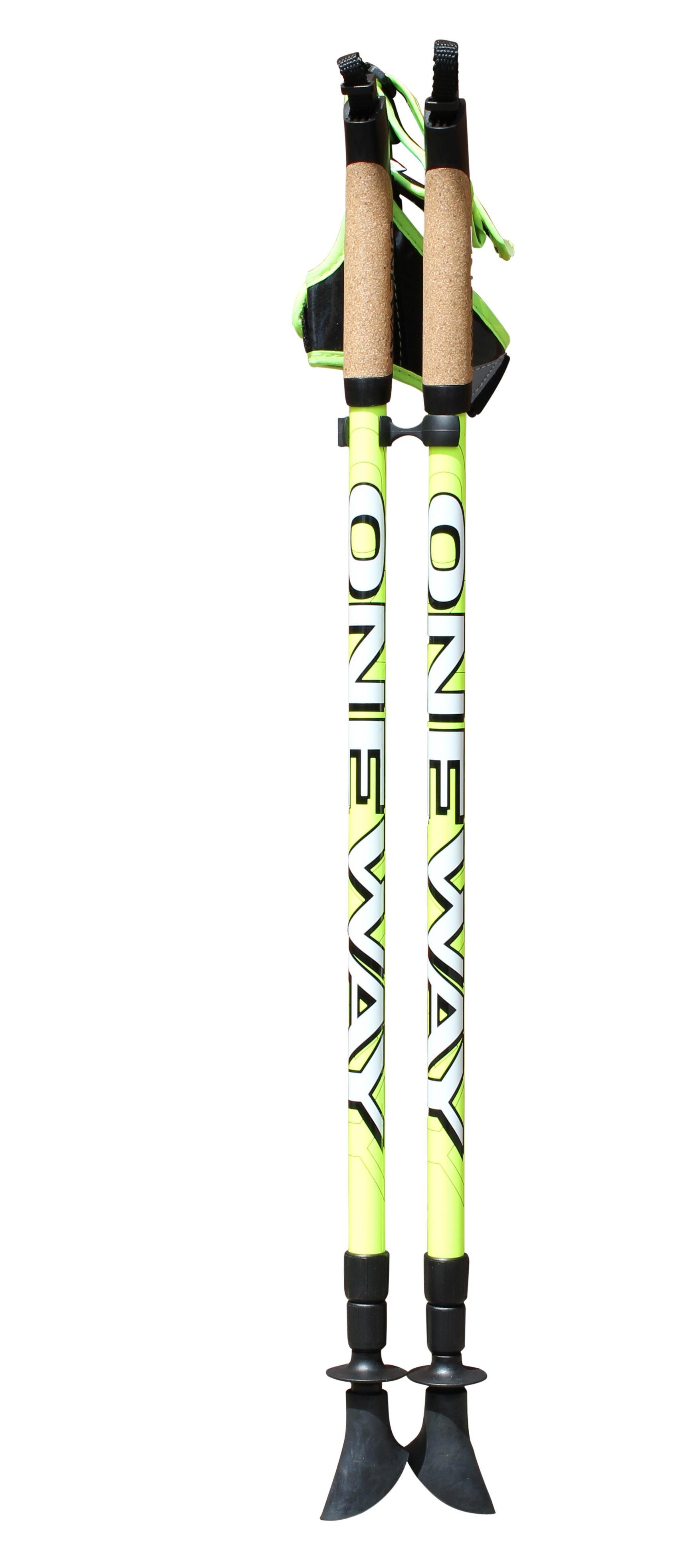 ONE WAY 3-Piece Adjustable Nordic Walking Poles